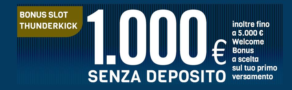 bonus slot 1000€